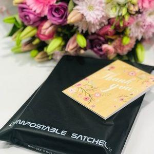 100packs Medium Size Compostable Mailer/Compostable Satchel/Biodegradable Mailer